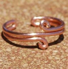 Toe Ring. I think it would be cute if you made to a bigger scale, as a braclet!