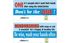 WaterAid Nigeria handwashing stickers - important in the fight against #ebola and many other infectious diseases and viruses.