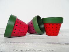 Strawberry Terra Cotta Pots - Crafts by Amanda