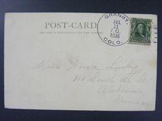 Grandby Colorado CO 1906 Type 3/1 Doane Cancel Postmark Postcard Used 1 Year EKU