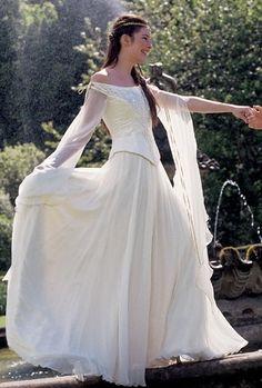 Medieval inspired wedding dress