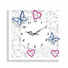 Designové nástěnné hodiny s ornamenty - dumdekorace.cz Clock, Wall, Design, Home Decor, Watch, Decoration Home, Room Decor, Clocks