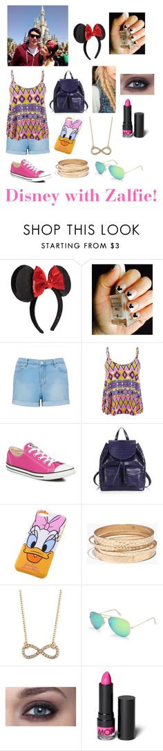 """Disney with Zalfie!"" by meldancer ❤ liked on Polyvore featuring Disney, Forever New, Influence, Converse, Nancy Gonzalez, Madewell, Jules Smith, Ray-Ban, Monki and disney"