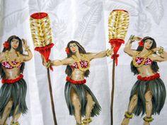 Winnie Fashions Hawaiian Shirt Mens 2XL Hula Dancers Tiki Torches Grass Skirts #WinnieFashions #Hawaiian