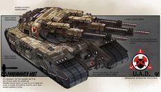 Tank Concept - MBT Panhammer, Crowther Lindeque on ArtStation at https://www.artstation.com/artwork/tank-concept-mbt-panhammer