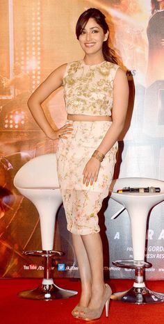 Yami Gautam at the trailer launch of 'Action Jackson'
