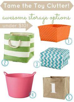 Land of Nod Storage Bins and Baskets Sale:: 5 Storage Options under $ 10