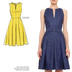 Sew the Look: Make this pretty dress pattern from Vogue Patterns in a tencel denim. V9167.