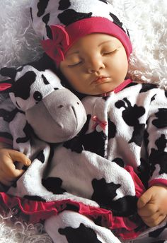 Weighted Realistic Sleeping Baby Doll, Over The Moooon, 19 inch Vinyl