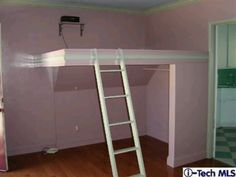 Bed Attached To Wall loft bed and desk inside a closet! | the home | pinterest | best