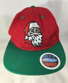 d182a0d0a0781 Santa Baseball Cap Hat Christmas Green Red Embroidered Snapback  Eclipse   BaseballCap