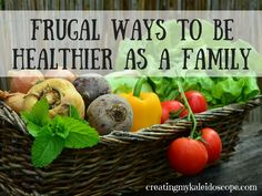 Frugal Ways To Be Healthier As A Family - Being healthy seems to be the focus of many as we get into the full swing of the New Year.  As a parent, we're always trying to make sure that our family is healthy . . . and for good reason.  Being healthier means that all of you can be more active, get sick less, and have more fun together.  The best part is that you can achieve these goals for your family, without breaking the budget.