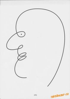 profil - jedním tahem