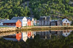 Reflections - Old Town Lærdal