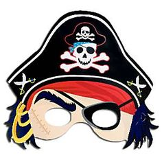 Party Pirate Mask Hats www.theoriginalpartybagcompany.co.uk