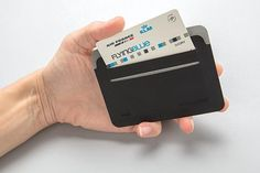 This ultra-thin, lightweight and secure RFID safe cardholder is a unique contemporary design. The RFID-blocking material protects against identity theft and electronic pickpocketing. 4 easy access card slots can hold up to 8 cards. Identity Theft, Travel Bags, Card Holder, Cards Against Humanity, Black, Travel Handbags, Rolodex, Black People, Travel Tote