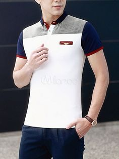 Camisa Polo elegante camisa los hombres con falso bolsillo Polo Shirt Outfits, Mens Polo T Shirts, Boys Shirts, Polo Shirt Design, Polo Design, Cool Tees, Cool T Shirts, Casual Wear For Men, Men Looks