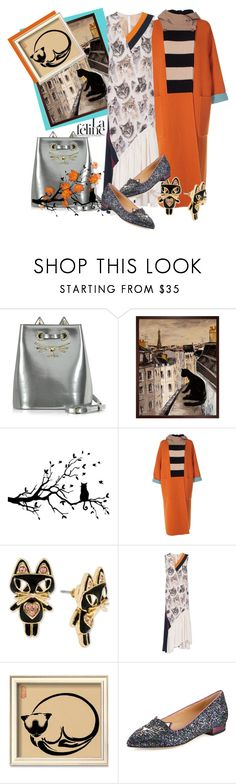 """Feline Style: Tricky Cat Trend"" by elena-viola-1 ❤ liked on Polyvore featuring Bela, Charlotte Olympia, MaxMara, Betsey Johnson and STELLA McCARTNEY"