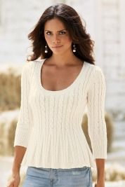 Boston ProperCable baby doll sweater - so pretty!