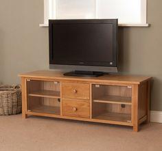 Toledo Oak Large Plasma TV Cabinet Plasma Tv, Tv Cabinets, Flat Screen, The Unit, Furniture, Home Decor, Blood Plasma, Decoration Home, Room Decor