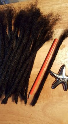 """This listing is for individual 1 cm pencil width 8"""" human hair dreadlock extensions so you can order a minimum of one loc extension or more according to your needs.  """"Add To Car""""t Th..."""