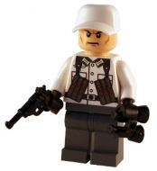 WW2 Lego Winter German Captain - Created using LEGO body parts and custom weapons and headgear.