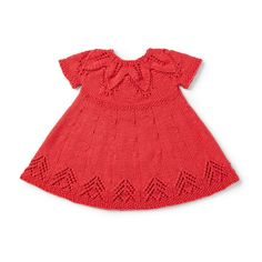 Yarnspirations is the spot to find countless free easy crochet patterns, including the Bernat Fairy Leaves Dress, 6 mos. Knitting For Kids, Baby Knitting Patterns, Baby Patterns, Free Knitting, Crochet Patterns, White Baby Dress, Baby Summer Dresses, Little Red Wagon, Toddler Dress