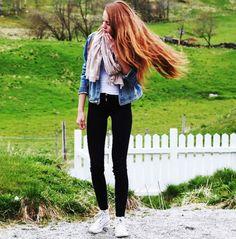 White high tops. Black skinnies. Jean jacket. Travel