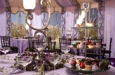 Harry Potter party decorations. (From bill and fluers wedding) so pretty