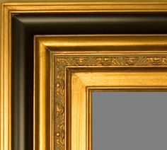 """Beautiful Picture Frame! Perfect For Artwork, Photographs, Canvas Paintings, Oil Paintings, Watercolor Paintings, Acrylic Paintings, Portraits, Wedding Pictures, Diplomas, Family Photographs & More. Museum Style Contemporary Black & Gold 5.75"""" Wide Wooden Picture Frame. Contemporary Picture Frames, Wooden Picture Frames, Acrylic Paintings, Oil Paintings, Watercolor Paintings, Wedding Art, Photo Canvas, Wedding Pictures, Black Gold"""