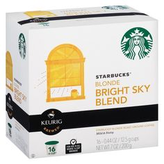 Starbucks Bright Sky Blend K-Cup pods 16ct