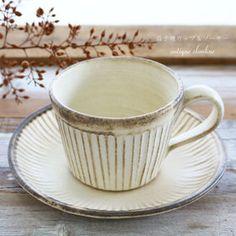 コーヒーカップ&ソーサー 益子焼 チョコブラウン/ナチュラルベージュ 和食器 シンプル食器