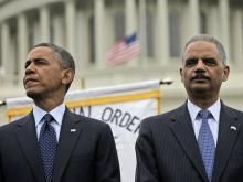 "Black Pastors: Impeach Holder.  ""President Obama and Attorney General Eric Holder have turned their backs on the values the American people hold dear, values particularly cherished in the black community: values like marriage, which should be strengthened and promoted, rather than weakened and undermined,"" says a statement by the Coalition of African American Pastors that has been posted online with their impeachment petition."