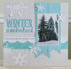 Image result for winter scrapbook layouts