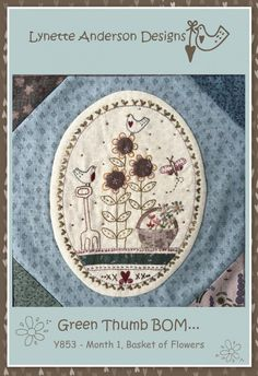 GREEN THUMB BLOCK OF THE MONTH #1 PATTERN, from Lynette Anderson Designs *NEW* | eBay