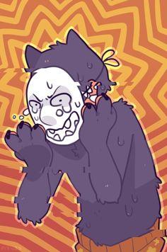 Stress by Mynosylexia on DeviantArt Dark Art Illustrations, Illustration Art, Japanese Kids, Popee The Performer, Wolf Children, Iconic Characters, Creepy Cute, Kids Shows, Anime