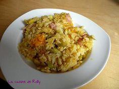 La meilleure recette de Risonitto bacon, légumes et mimolette! L'essayer, c'est l'adopter! 5.0/5 (4 votes), 4 Commentaires. Ingrédients: 250g risoni  1 échalote  600ml d'eau  100ml vin blanc  2 cubes de bouillon  1 blanc de poireau  8 tranches de bacon  Des petits coeurs d'artichaut  2 tranches de mimolette  2cs d'huile d'olive  Sel, poivre