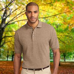 Port Authority Tall Pique Knit Polo-TLK420