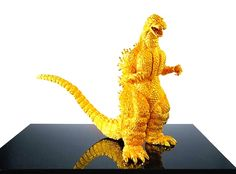 Solid 24 carat gold Godzilla will sell for approximately 1,5 million dollars in Japan.