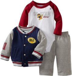 Kids Headquarters Baby-Boys Newborn Jacket With Bodysuit And Pant, Navy, 0-3 Months Kids Headquarters. $24.95