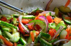 Raw Vegetable Salad Recipe @ http://majamaki.com/2012/06/raw-vegetable-salad/