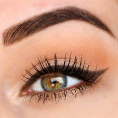MAC All That Glitters on the lid, Soft Brown in the crease, and Nylon on the inner corners. Powersurge kohl liner (or Woodwinked eyeshadow) on the lower lash line. Gorgeous Makeup, Love Makeup, Simple Makeup, Beauty Makeup, Makeup Looks, Hair Makeup, Hair Beauty, Mac Eyeshadow Swatches, Glitter Eyeshadow