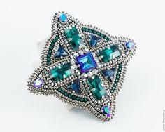 Купить Брошь - Кулон со стразами Swarovski - swarovski, swarovski кристаллы, брошь