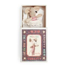 Maileg Baby Boy & Girl Mouse in a Box