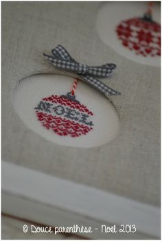 Boules de Noel 1 - an idea for original cross stitch christmas tree
