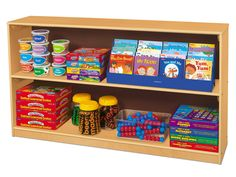 Another bookshelf option.  Classic Birch Store Anything Medium Classroom Shelves
