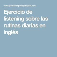 "Ejercicio de listening sobre ""be going to"" futuro English Resources, English Activities, English Tips, English Class, English Lessons, English Grammar, Learn English, Listening English, Teaching English"