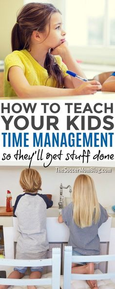 10 Tricks for Teaching Kids Time Management (So they'll get Stuff Done!) Want kids to get things done when you want them to? Give them the tools to do it themselves with these 10 tricks for teaching kids time management. Parenting Styles, Kids And Parenting, Parenting Hacks, Parenting Classes, Parenting Quotes, Peaceful Parenting, Gentle Parenting, Parenting Ideas, Teaching Kids