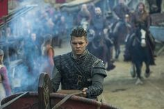 "The ship of Ragnar was blown off course on one occasion leading him to be executed in the cave full of vipers. The sons of Ragnar believed the culprit was King Aella. The last words of Ragnar Lothbrok were ""How the little pigs would grunt if they knew how the old boar suffered."" This was the prophecy for the bloody revenge on King Aella [...] Vikings Tv Series, Vikings Tv Show, Ragnar Lothbrook, Viking Tribes, Vikings Season 6, Ivar Ragnarsson, Erik The Red, Tv Series 2013, Ivar The Boneless"