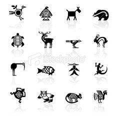 Tortue aquatique, Indien d'Amérique du Nord, Amérindien, Culture indigène, Symbole Illustration vectorielle libre de droits